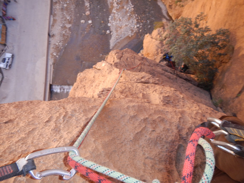 Climbing in Morocco Escalade au Maroc<br> Guidebook climbing in Todra gorges <br> Pilier du gué<br>