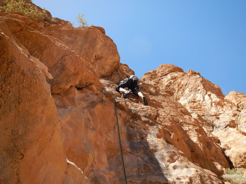 Climbing in Morocco Escalade au Maroc<br> Guidebook climbing in Todra gorges <br> Tifégha route<br> Paroi du levant area
