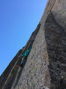 Rock Climbing Photo: Eroica crux stem dihedral.  You can also see The H...