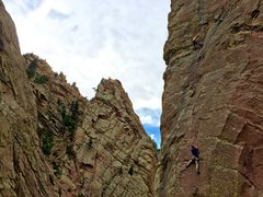 Rock Climbing Photo: Ryan Shupe headed up the West Buttress.