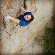 Rock Climbing Photo: Tim Yuen leading Feel the Bern