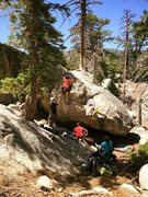 Rock Climbing Photo: Tinna sending Buck Rogers on the left and Alex sen...