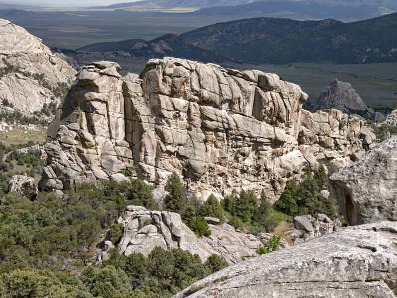 Rock Climbing Photo: View of Shangri La from northwest