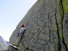 Rock Climbing Photo: Checkerboard Wall Left- thin moves with good prote...