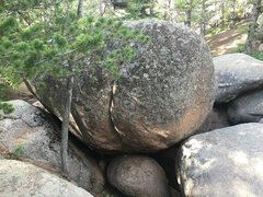 Rock Climbing Photo: Soggy Bottom. The described waterfall/ pool is beh...
