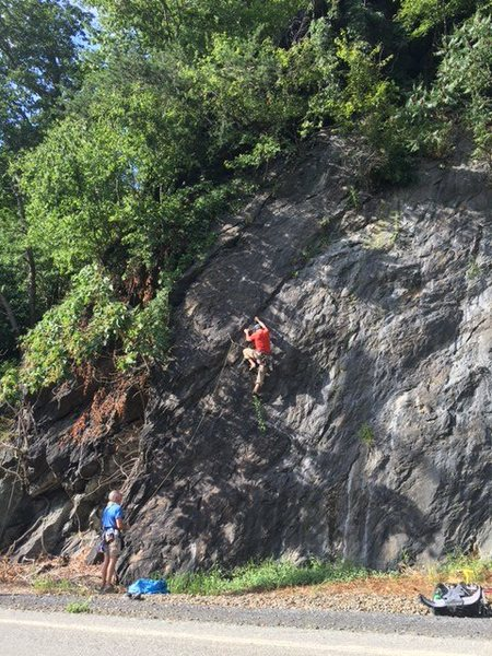 Rock Climbing Photo: First time on Samurai.  Aptly named since peeling ...