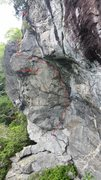 Rock Climbing Photo: Beta photo. The bottom traverses much more than th...