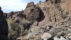 Rock Climbing Photo: Solomon's Wall Routes