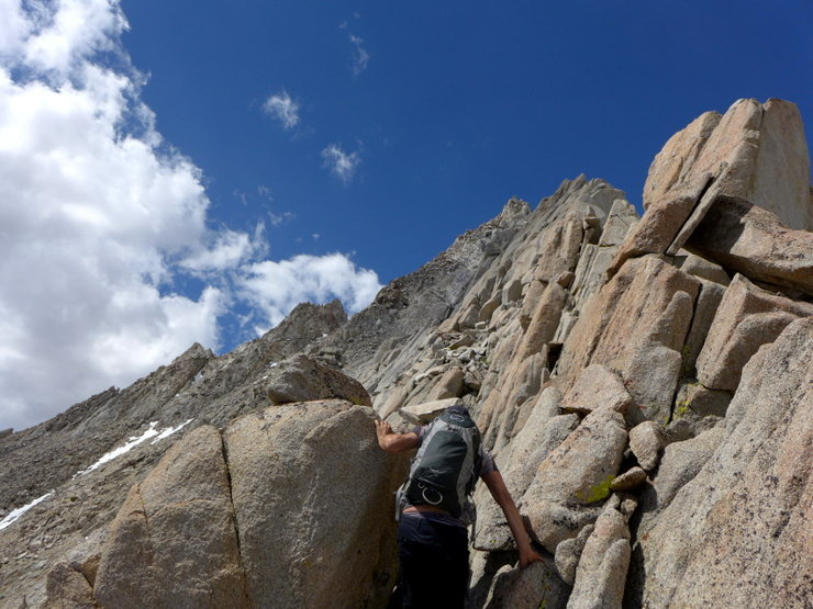 Rock Climbing Photo: finally off the scree (for the moment)