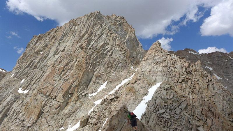 Rock Climbing Photo: Matt heading toward the headwall