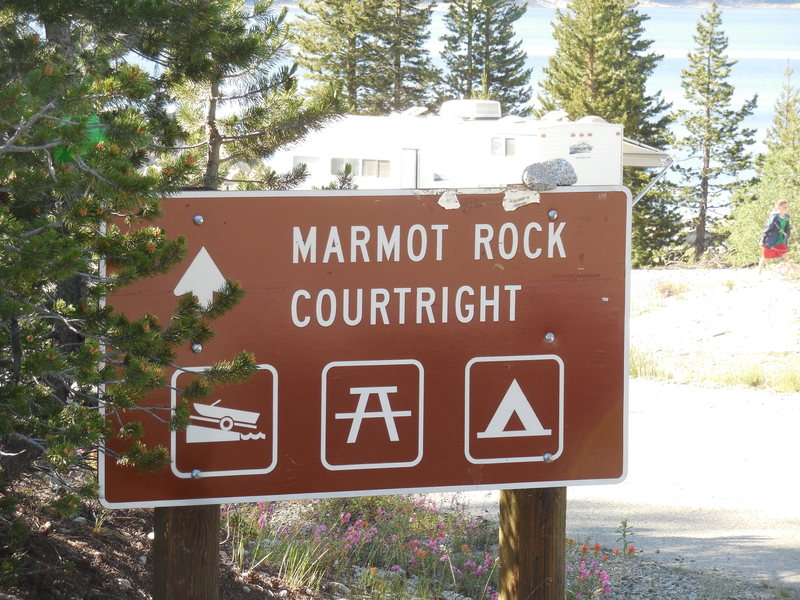 Rock Climbing Photo: Welcome to Courtright Reservoir.