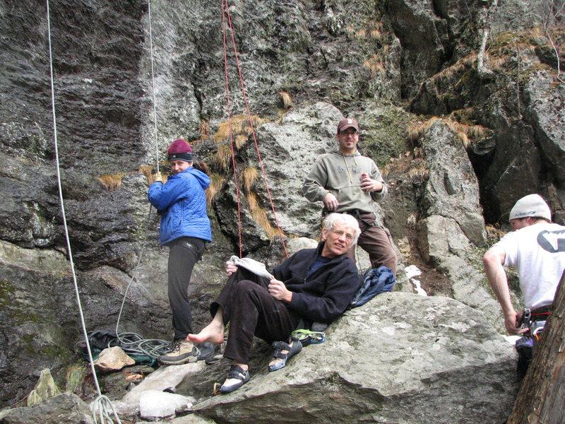 Rock Climbing Photo: John Joline in between climbs.  RIP John.
