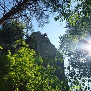 Rock Climbing Photo: Finishing Tower Route on the most beautiful day of...