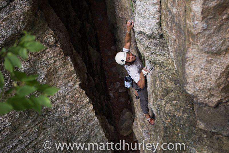 Rock Climbing Photo: Yellow Wallpaper, Peterskill, NY