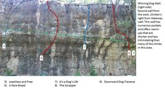Rock Climbing Photo: Whining Dog Wall; right side.
