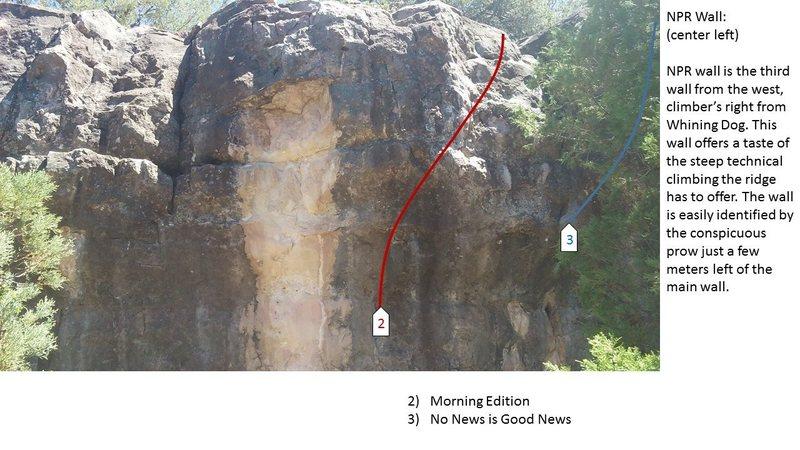 Rock Climbing Photo: NPR center left