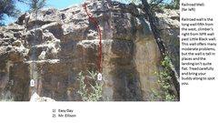 Rock Climbing Photo: Railroad Wall far left