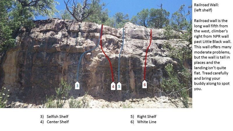 Rock Climbing Photo: Railroad Wall left shelf