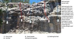 Rock Climbing Photo: Railroad Wall center left