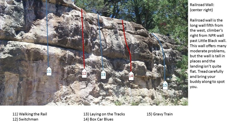 Rock Climbing Photo: Railroad Wall center right