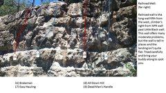 Rock Climbing Photo: Railroad Wall far right