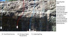 Rock Climbing Photo: Booze Pig Wall left