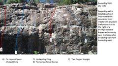 Rock Climbing Photo: Booze Pig Wall far left
