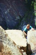Rock Climbing Photo: Northeast buttress of Higher Cathedral Rock (scann...