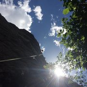 Rock Climbing Photo: First lead climb of 2016 at CCC!