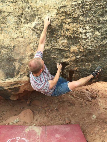 Rock Climbing Photo: V3 sit start