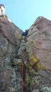 Rock Climbing Photo: Me towards the top of Gru