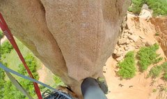 Rock Climbing Photo: 1 out of 2 pitch. If you have a 70 rope, you can c...