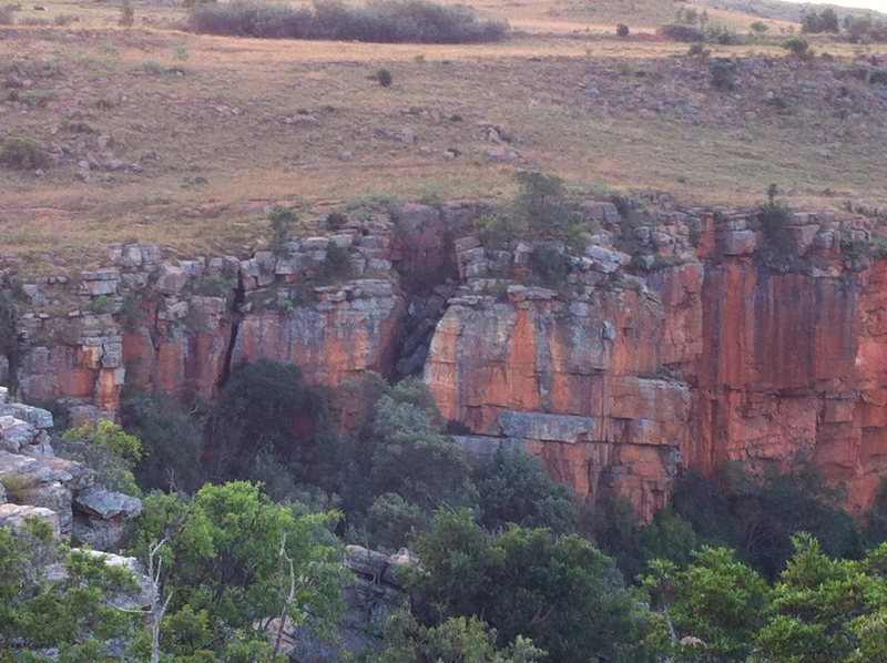 Baboon Buttress in early evening light. This is the left hand side of the crag. The right hand (not pictured) contains the real gems of this climbing area; particularly for grades 25-33.
