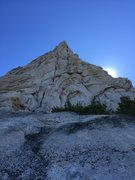 Rock Climbing Photo: Straight up the wide. Stay left of the prow for th...
