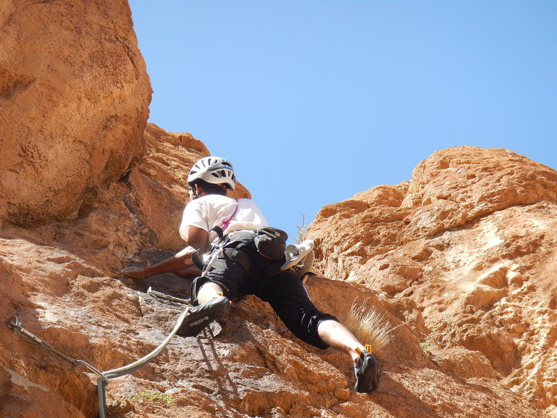 "Rock Climbing Photo: Tifegha 2, Abdul, a guide of ""Aventures verti..."