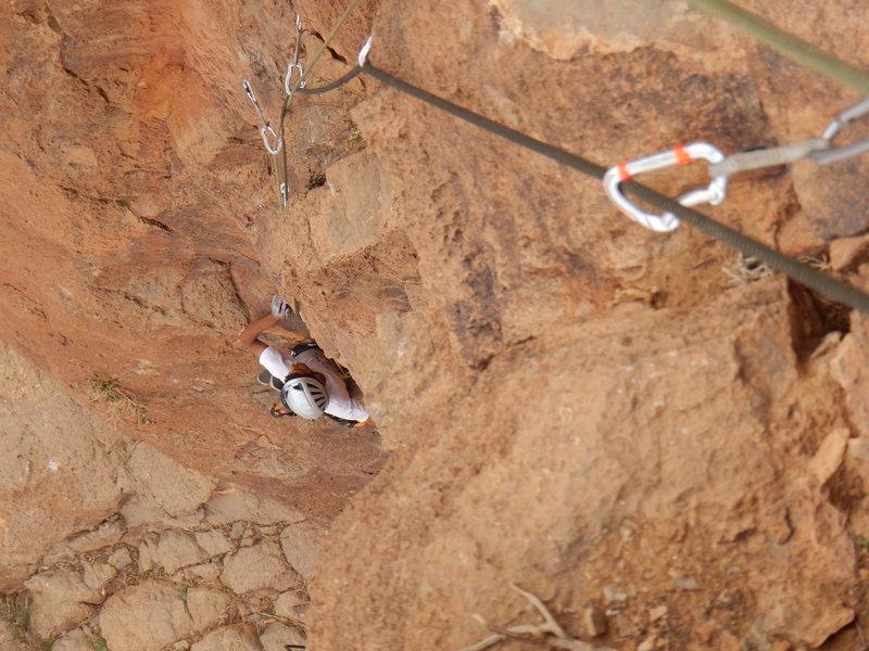 "Rock Climbing Photo: Tifegha 3, Abdul, a guide of ""Aventures verti..."