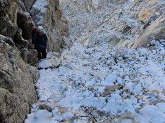 Rock Climbing Photo: Wall Street approach to Exum July 2015