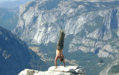 Rock Climbing Photo: Second time hiking up half dome