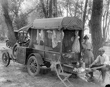 Rock Climbing Photo: Model T camping rig