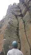 Rock Climbing Photo: Showing 5.8-ish start, awesome middle section, and...