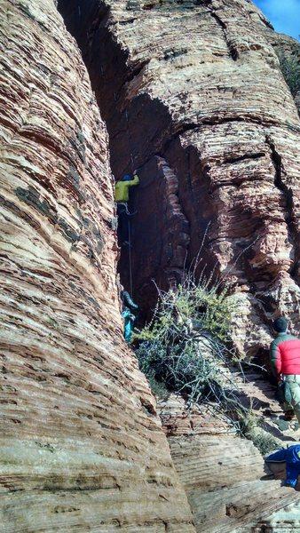Rock Climbing Photo: Alon early on Climhazzard.