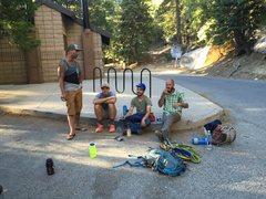 Rock Climbing Photo: Bathroom break!!