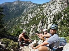 Rock Climbing Photo: Belen, Howard, Fitz & that view!!