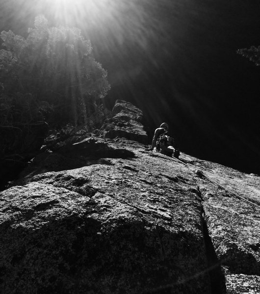 Rock Climbing Photo: Blasting off into the great unknown!!! Photo By Be...