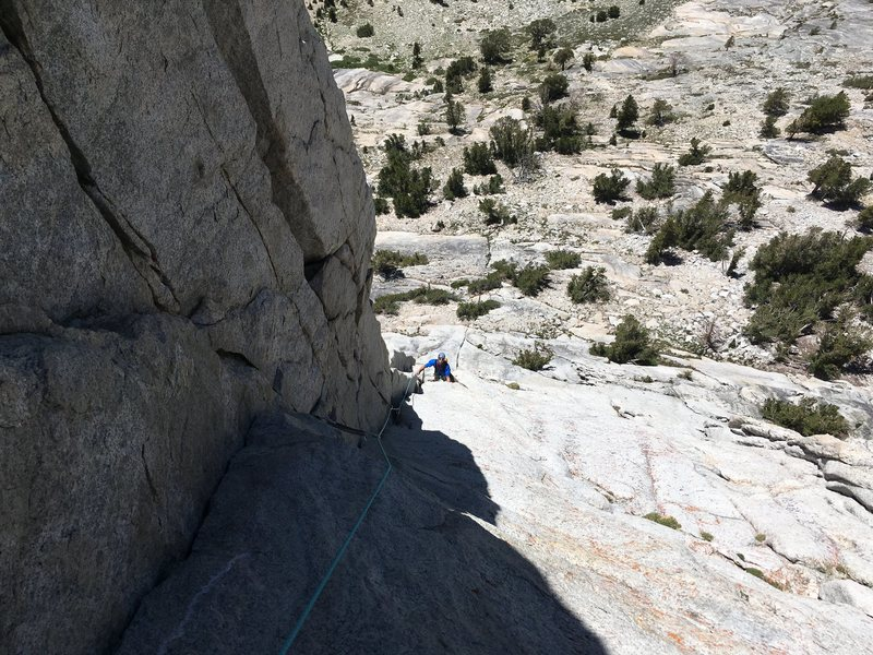 Rock Climbing Photo: view of the 2nd pitch from the belay