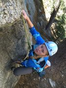 Rock Climbing Photo: Little Anni O. Floating the bouldery start to The ...