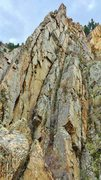 Rock Climbing Photo: The northwest face of Buena Vista Wall.  The skyli...