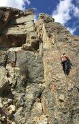 Rock Climbing Photo: The east face of Buena Vista Wall. Kent starting u...