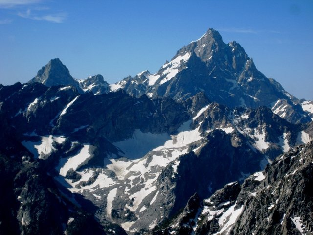 Rock Climbing Photo: Grand Teton over the West Horn from the summit of ...