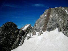 Rock Climbing Photo: West Horn and Black Dike on Mount Moran from the s...